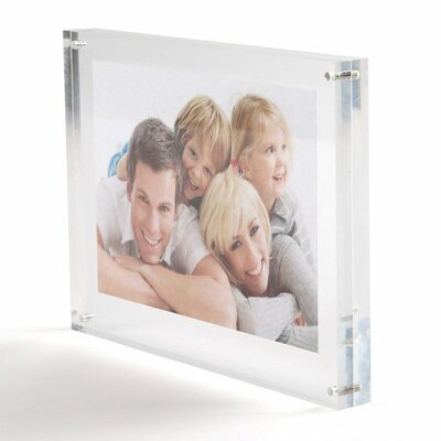 Tabletop Clear Acrylic Frame Size: 7 H x 5 W x 0.79 D