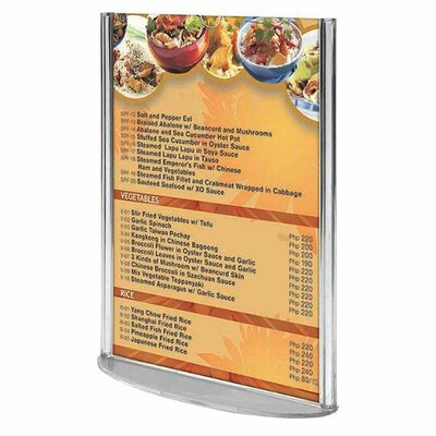 Oval Leaflet and Sign Holder Size: 7.2 H x 5.91 W x 2.76 D