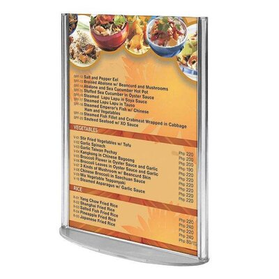 Oval Leaflet and Sign Holder Size: 11.2 H x 9.45 W x 3.54 D