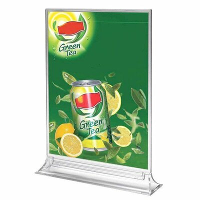 Upright Leaflet and Sign Holder Size: 12.52 H x 9.84 W x 2.2 D