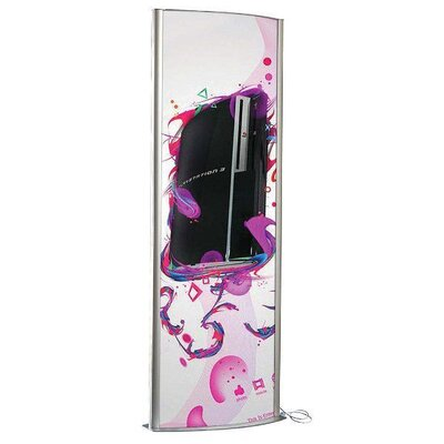 Totem Poster Display Double Sided With Light Size: 77.79 H x 28.97 W