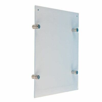 "Wall Mount Clear Acrylic Sign Holder Size: 30.36"" H x 24.36"" W x 1.14"" D USMS0D0022X2000"