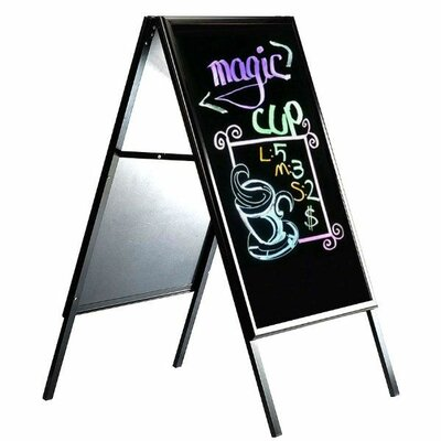 Write On A Frame Sidewalk Sign Size: 45.28 H x 25 W x 1.08 D