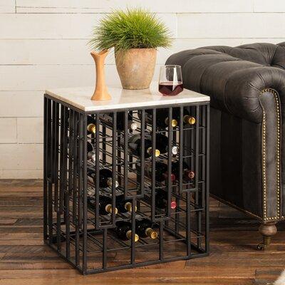 Marble End Table 28 Bottle Floor Wine Rack
