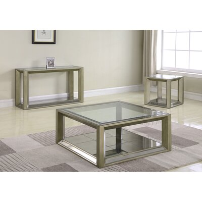 Laury Glass 3 Piece Coffee Table Set