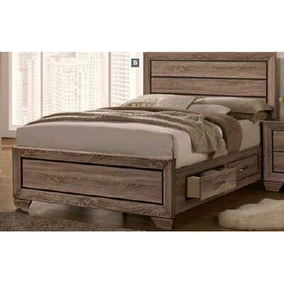 Charleena Panel Bed Color: Washed Taupe, Size: California King