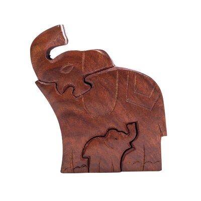Bearer Mama Elephant Puzzle Decorative Box 07307319938A44A78E8D7375C9D13C49