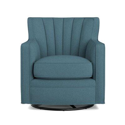 Eady Swivel Armchair Upholstery: Blue