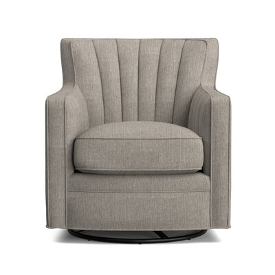 Eady Swivel Armchair Upholstery: Dove Gray