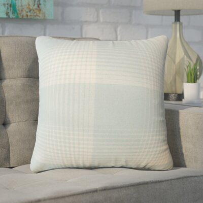 Wigginton Plaid Down Filled Velvet Throw Pillow Size: 20 x 20, Color: Seaglass
