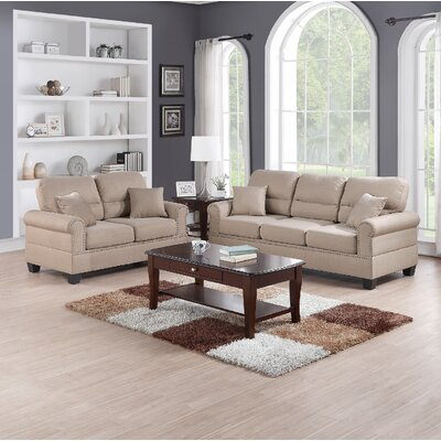Jablonski 2 Piece Living Room Set Upholstery: Sand