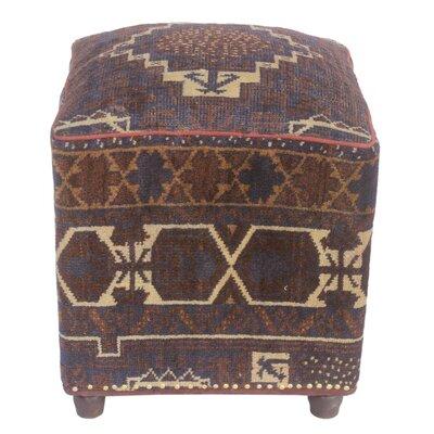 Fosse Kilim Upholstered Handmade Ottoman