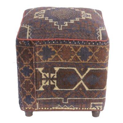Fossen Kilim Upholstered Handmade Ottoman