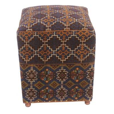 Fossum Kilim Upholstered Handmade Ottoman
