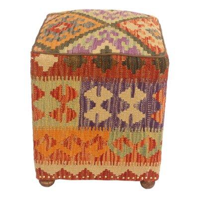 Fortner Kilim Upholstered Handmade Ottoman