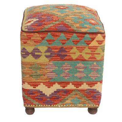 Fortunato Kilim Upholstered Handmade Ottoman