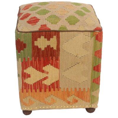 Talarico Kilim Upholstered Handmade Ottoman