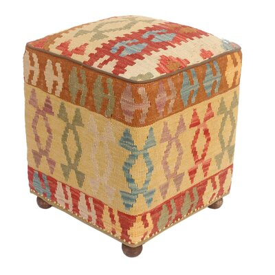 Tedeschi Kilim Upholstered Handmade Ottoman
