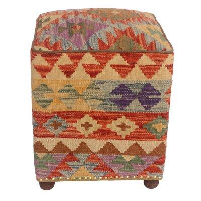 Talbert Kilim Upholstered Handmade Ottoman