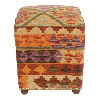 Forster Kilim Upholstered Handmade Ottoman