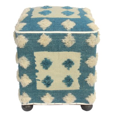 Pulliam Morrocan Wool Upholstered Handmade Ottoman