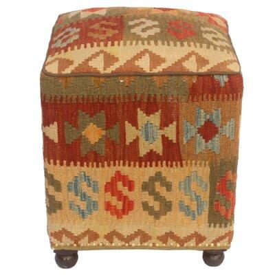 Tatro Kilim Upholstered Handmade Ottoman