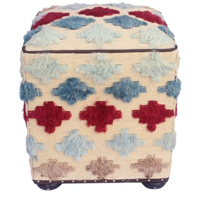 Pumphrey Morrocan Wool Upholstered Handmade Ottoman