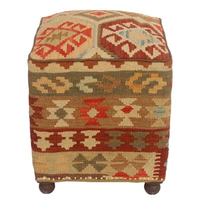 Taub Kilim Upholstered Handmade Ottoman