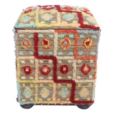 Foskey Morrocan Wool Upholstered Handmade Ottoman