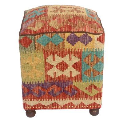 Fort Hamilton Kilim Upholstered Handmade Ottoman