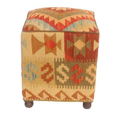 Tauber Kilim Upholstered Handmade Ottoman