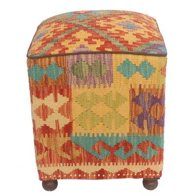 Fort Washington Kilim Upholstered Handmade Ottoman