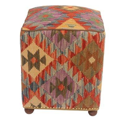 Taulbee Kilim Upholstered Handmade Ottoman