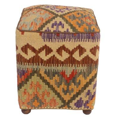 Fortenberry Kilim Upholstered Handmade Ottoman