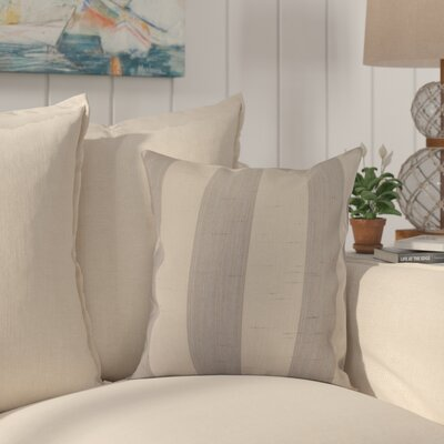 Halligan Indoor/Outdoor Sunbrella Throw Pillow Color: Decade Pewter