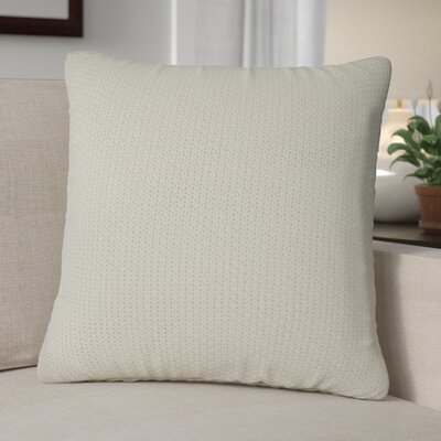 Kensington Moss Knit Cotton Throw Pillow Color: Ivory