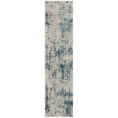Lappin Blue/Beige Area Rug Rug Size: Rectangle 8 x 10