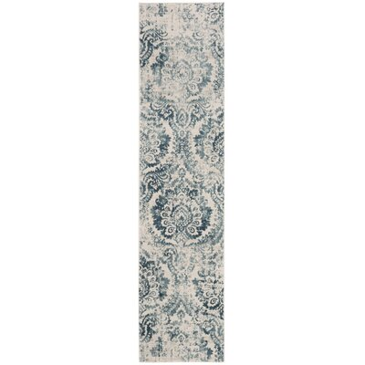 Van Andel Blue/Beige Area Rug Rug Size: Rectangle 26 x 4