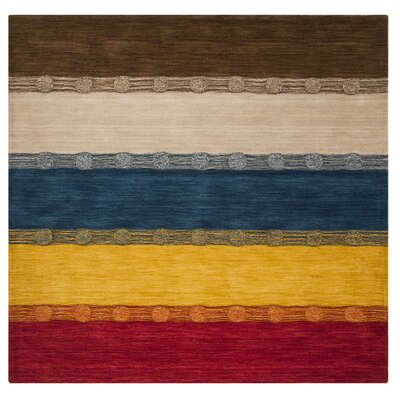 Tiernan Wool Beige Area Rug Rug Size: Rectangle 5 x 8