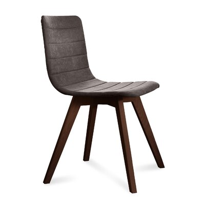 Dipasquale Upholstered Dining Chair Upholstery: Brown, Finish: Chocolate