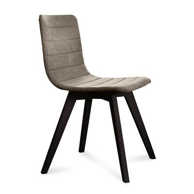 Dipasquale Upholstered Dining Chair Upholstery: Sand, Finish: Anthracite