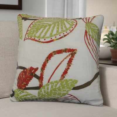 Kating Leaves Applique Cotton Throw Pillow