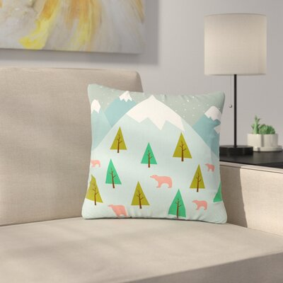 Cristina Bianco Bears Illustration Nature Outdoor Throw Pillow Size: 16 H x 16 W x 5 D
