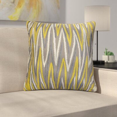 Orrell Chevron Embroidered Cotton Throw Pillow