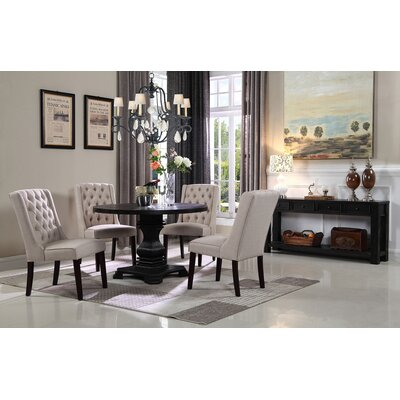Motta 5 Piece Dining Set Chair Color: Beige