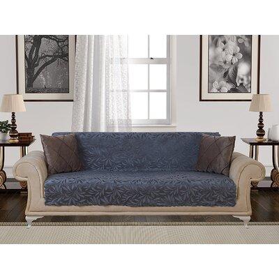 Box Cushion Sofa Slipcover Upholstery: Smoke