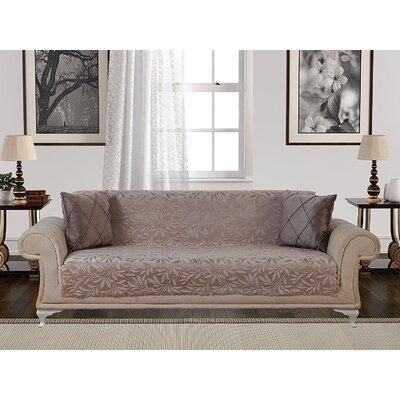 Box Cushion Sofa Slipcover Upholstery: Light Mink