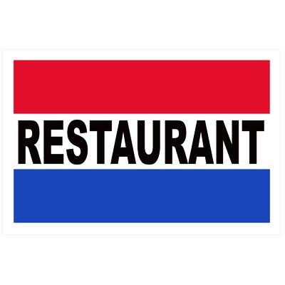 Restaurant Banner Size: 24 H x 36 W x 0.18 D