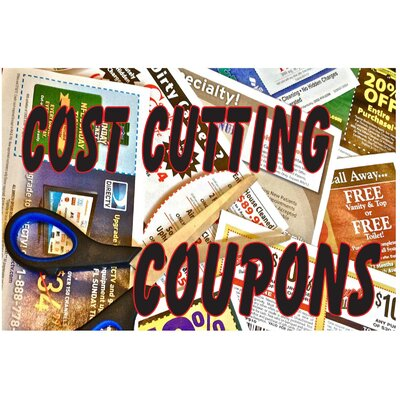Cost Cut Coupons Banner Size: 24 H x 36 W x 0.18 D