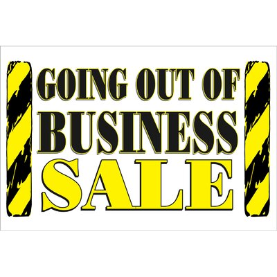 Going Out of Business Banner Size: 24 H x 36 W x 0.18 D